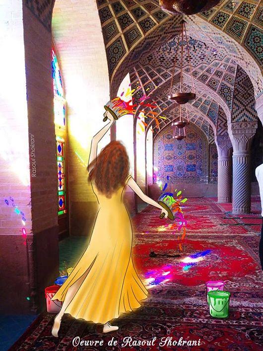 Spontanéité-élan-créateur-oeuvre-rasoul-shokrani-peinture-Photographie